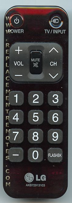 LG AKB72913103 TV Remote Control