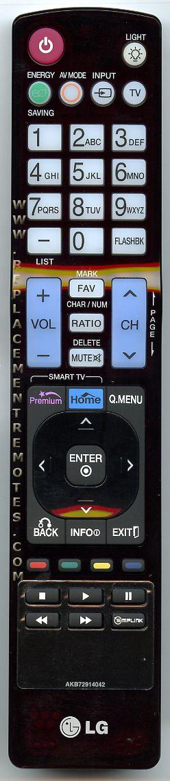LG AKB72914042 TV Remote Control