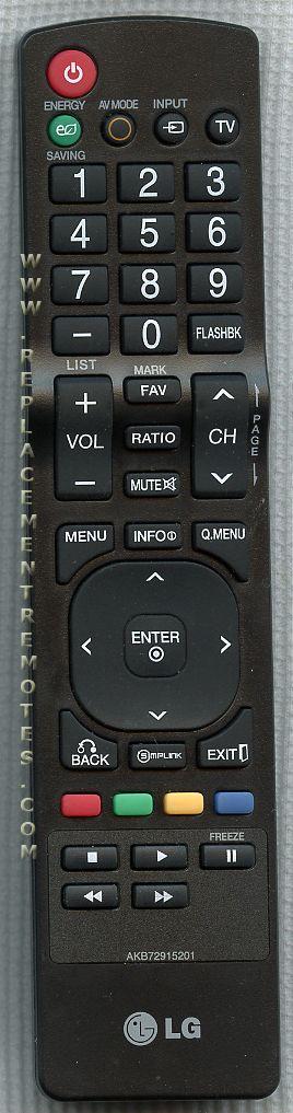 LG AKB72915201 TV Remote Control
