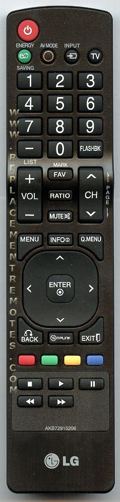 Buy LG AKB72915206 TV Remote Control