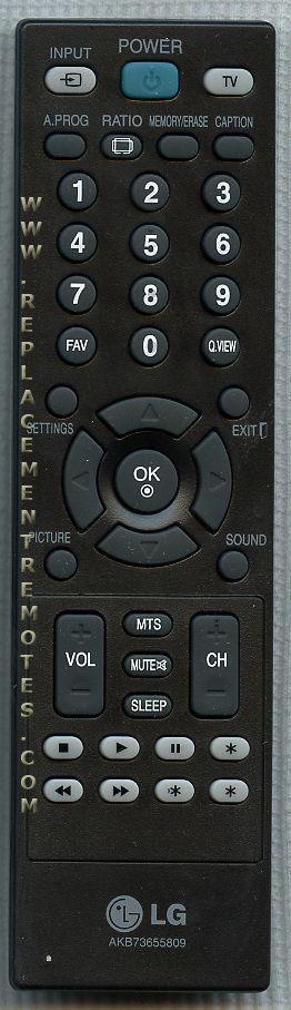LG AKB73655839 TV Remote Control
