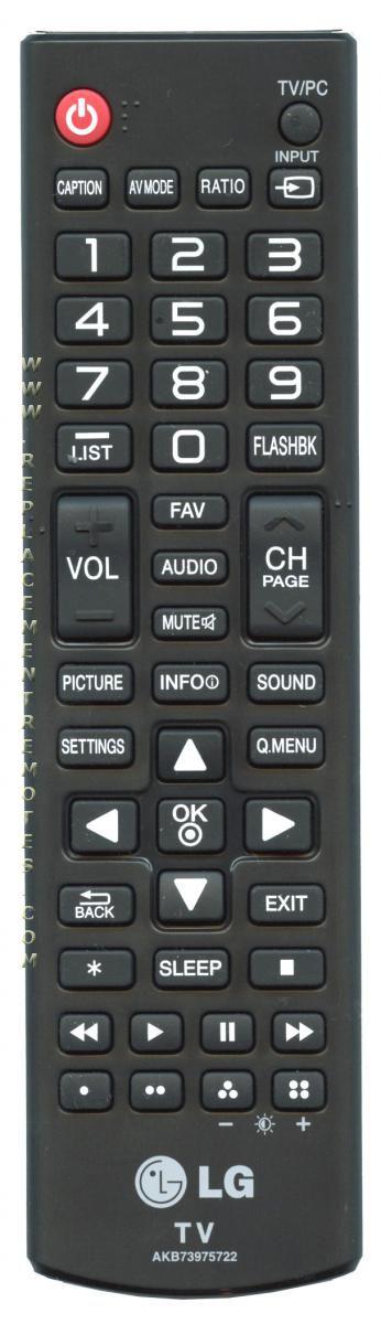 LG AKB73975722 Remote Control