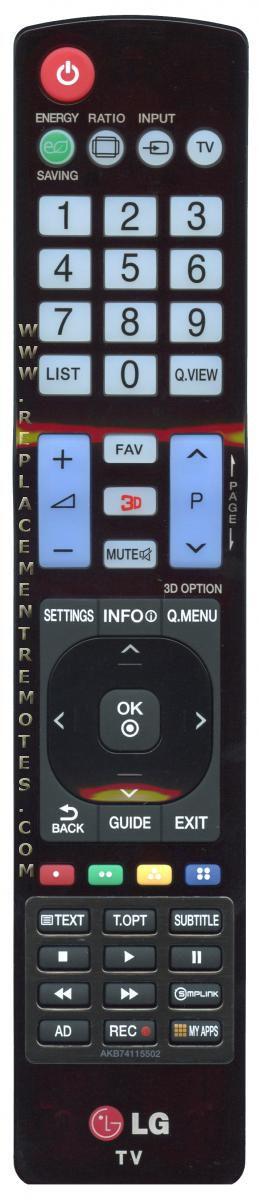 LG AKB74115502 TV Remote Control