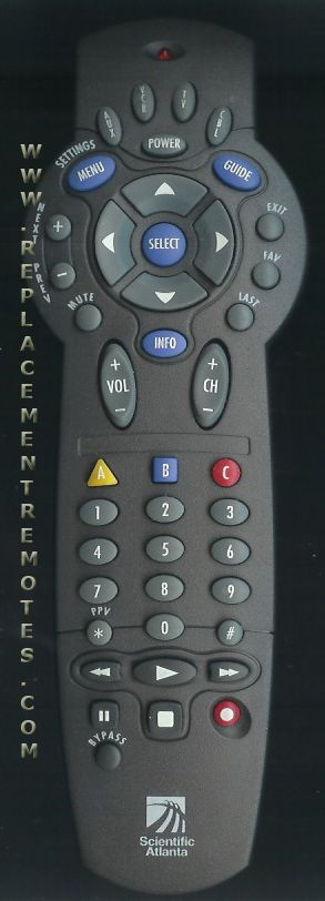 Buy SCIENTIFIC-ATLANTA AT2000-4 AT20004 -738991 Cable Box Remote Control
