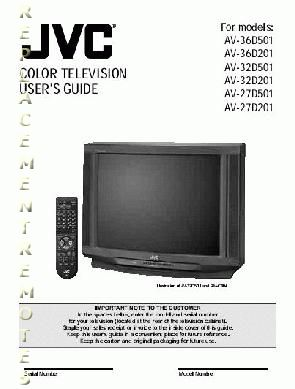 JVC AV36D501OM Operating Manual