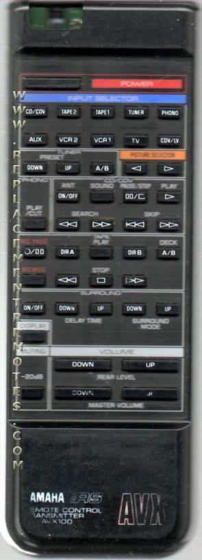 Buy Yamaha Avx100 Avx100u Audio Video Receiver Remote Control