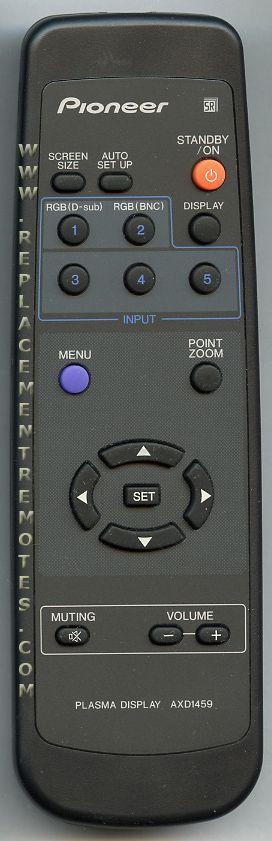 PIONEER AXD1459 Projector Remote Control