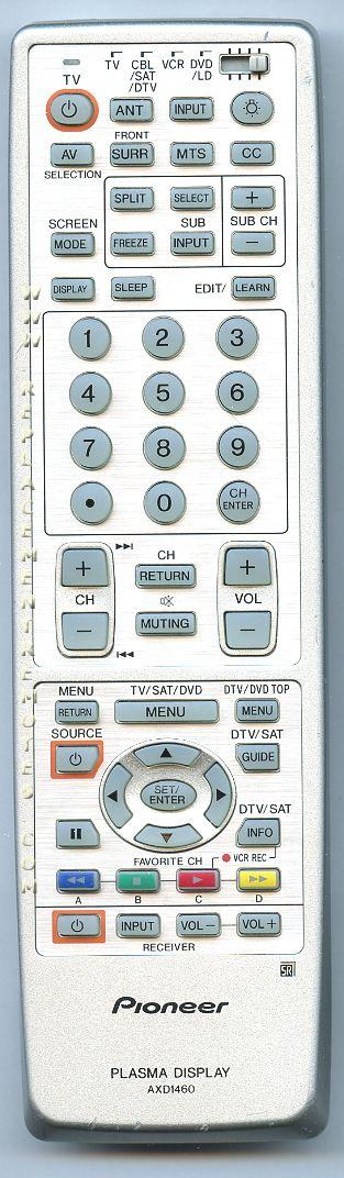 PIONEER AXD1460 TV Remote Control