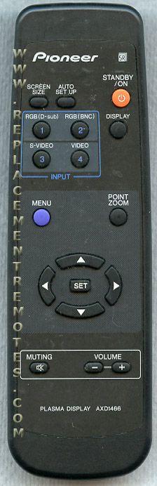 PIONEER AXD1466 TV Remote Control