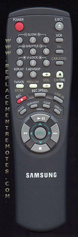 SAMSUNG 00003A VCR Remote Control