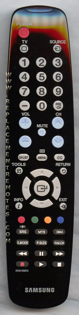 SAMSUNG BN5900687A TV Remote Control