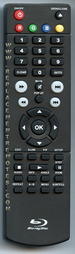 RCA BRC11072E REMOTE Blu-Ray DVD Player Remote Control