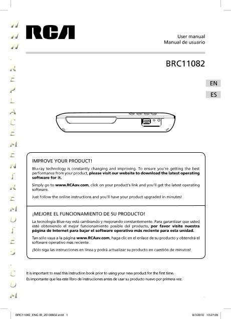 Rca brc11082 firmware update
