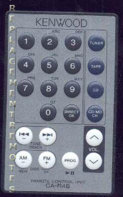 KENWOOD CAR4B Remote Control