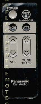 Panasonic CARC80EX Remote Control