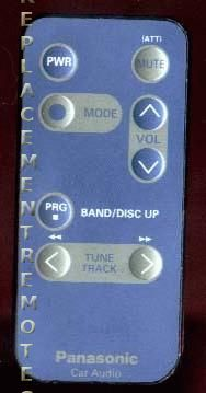 Panasonic CARC61EX Remote Control