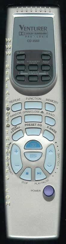 Venturer CD2560 Remote Control