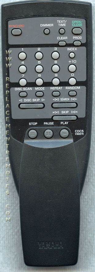 YAMAHA CDC5 Audio System Remote Control
