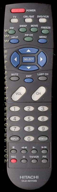 HITACHI CLU4311UG TV Remote Control