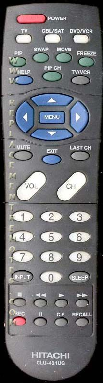 HITACHI CLU431UG TV Remote Control