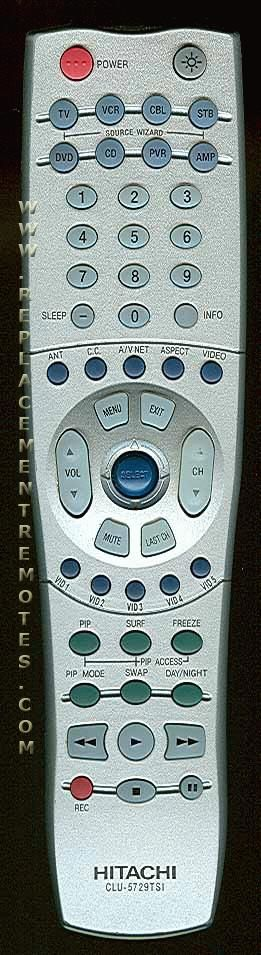 HITACHI CLU5729TSI TV Remote Control