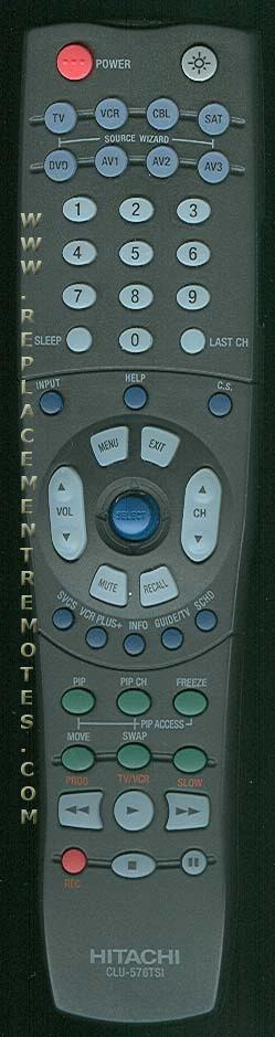 HITACHI CLU576TSI TV Remote Control
