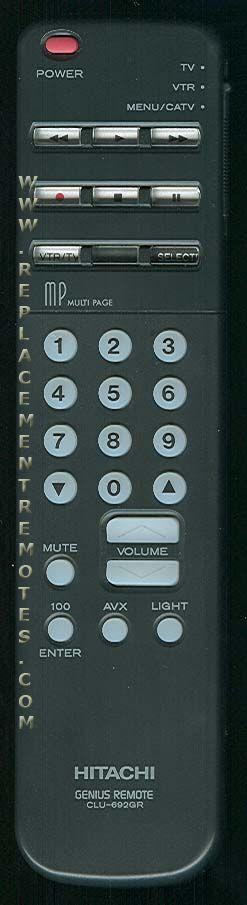 HITACHI CLU692GR TV Remote Control