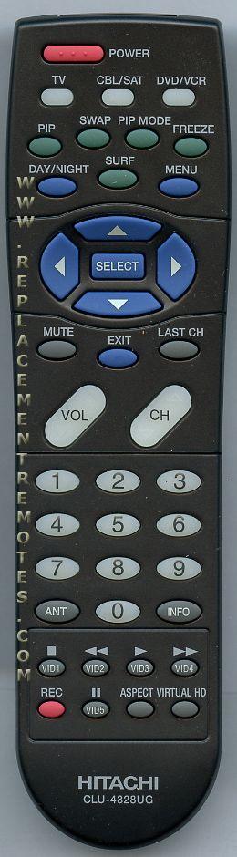 hitachi tv remote. the original hitachi clu4328ug remote hitachi tv