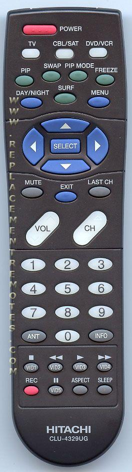 HITACHI CLU4329UG TV Remote Control