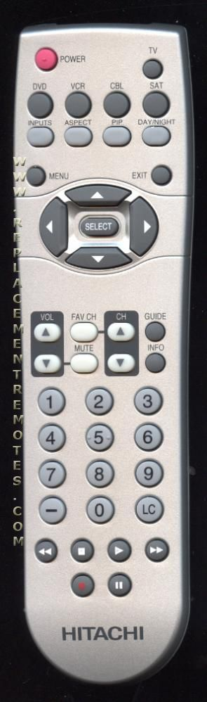HITACHI CLU4341UG2 TV Remote Control