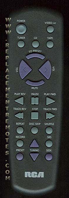 RCA CRK291A Audio System Remote Control
