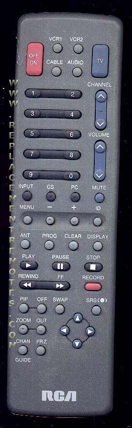 RCA P60100EB TV Remote Control
