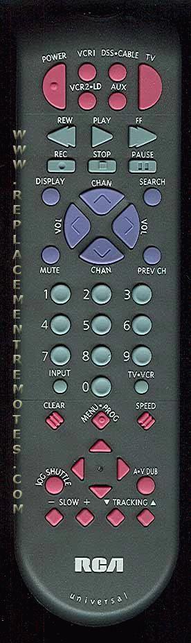 RCA CRK70VK VCR Remote Control