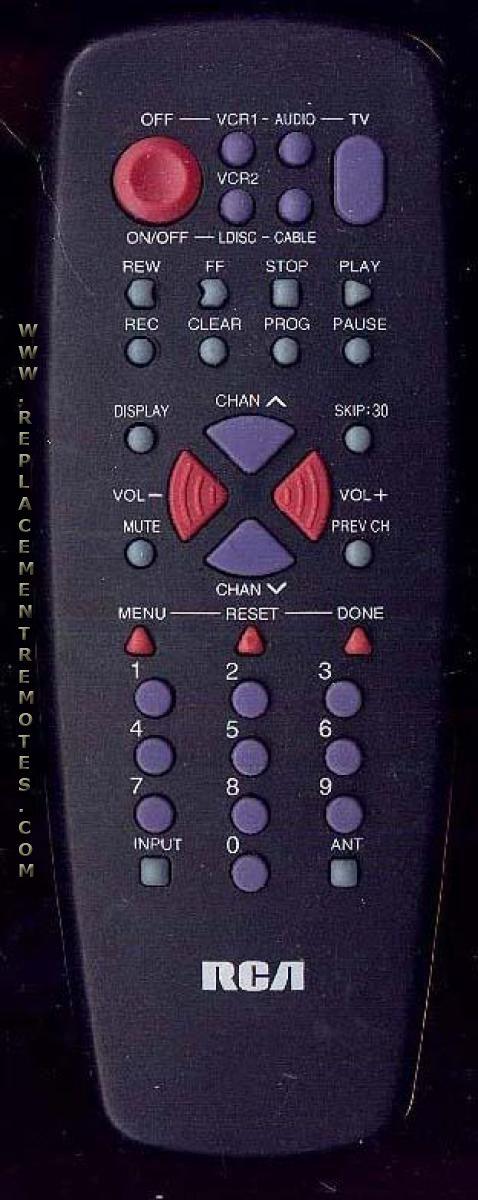 RCA CRK71B1 TV Remote Control