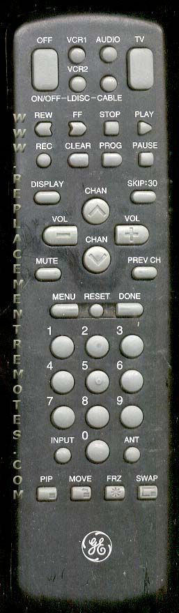 GE General Electric CRK72A Remote Control