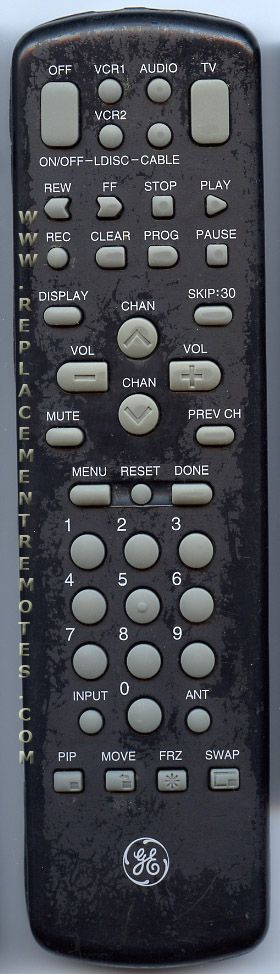 GE General Electric CRK72A2 TV Remote Control