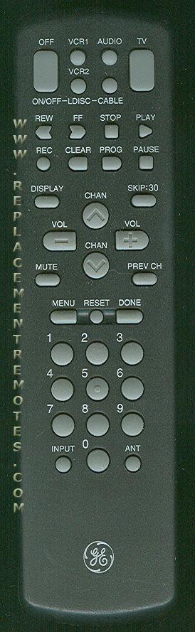 GE General Electric CRK72B Remote Control