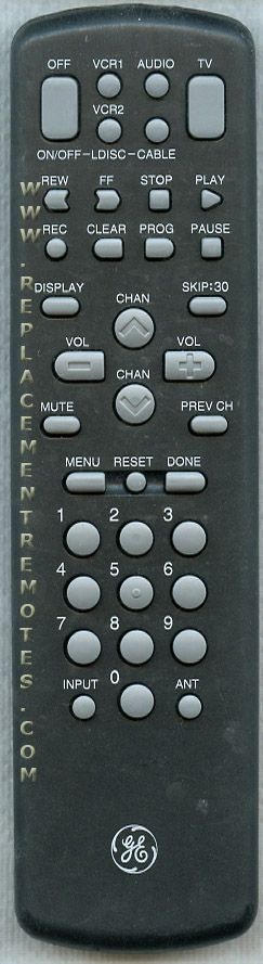 GE General Electric CRK72B2 TV/VCR Combo Remote Control