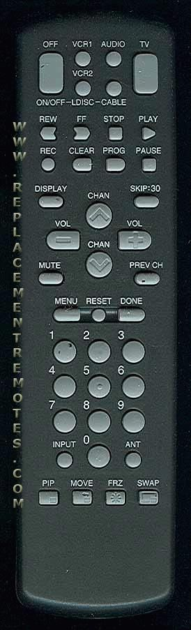 GE General Electric CRK72D2 Remote Control