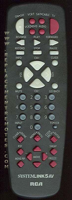 RCA CRK74EA3 TV Remote Control