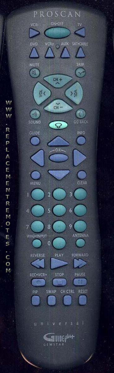 Proscan-RCA CRK76TBL1 TV Remote Control