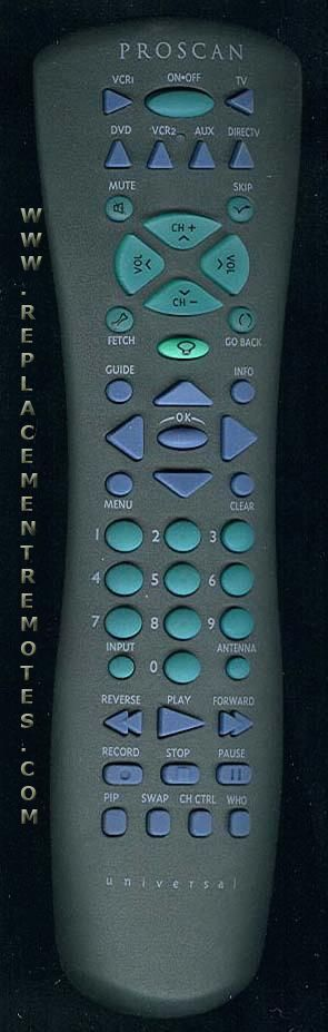 Proscan-RCA CRK76TCL3 TV Remote Control