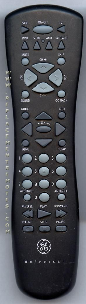 GE General Electric CRK76TF1 TV Remote Control
