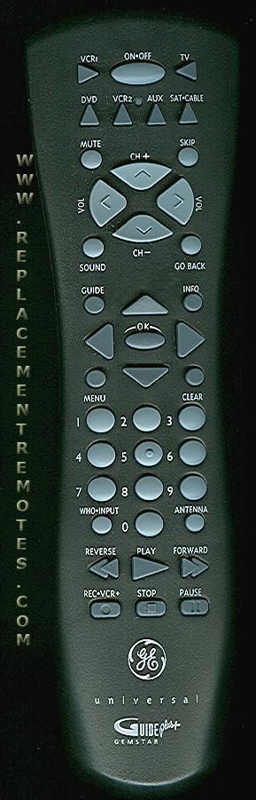 GE General Electric CRK76TG1 TV Remote Control
