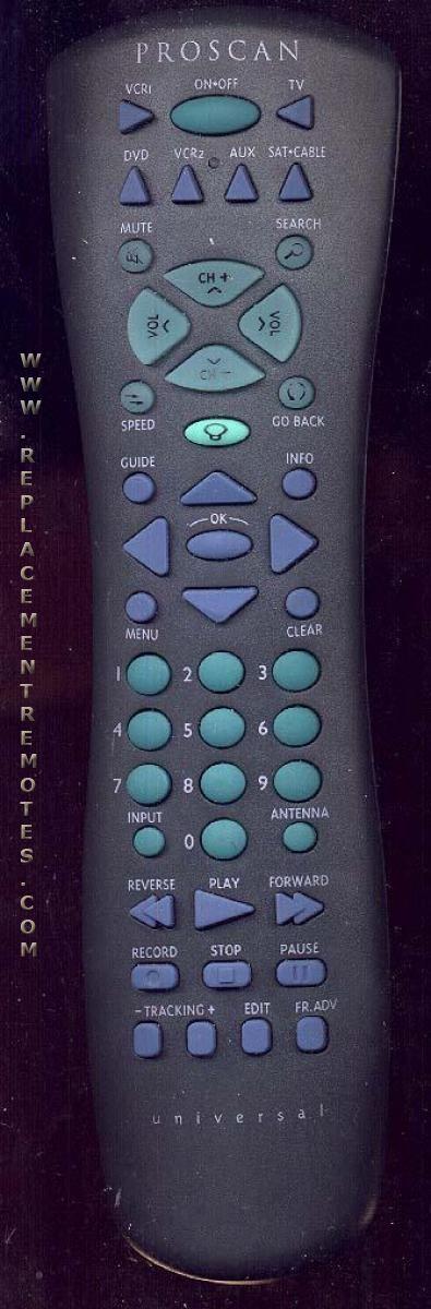 Proscan-RCA CRK76VBL1 TV Remote Control