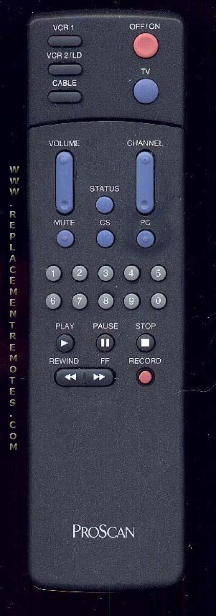 Proscan-RCA CRK80F TV Remote Control