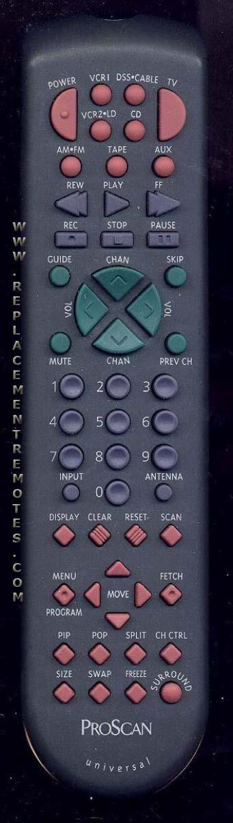 Proscan-RCA CRK81A1 TV Remote Control