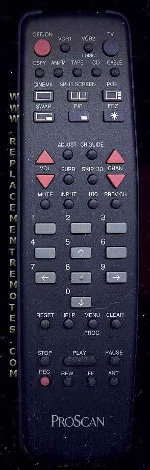 Proscan-RCA CRK61A1 Remote Control