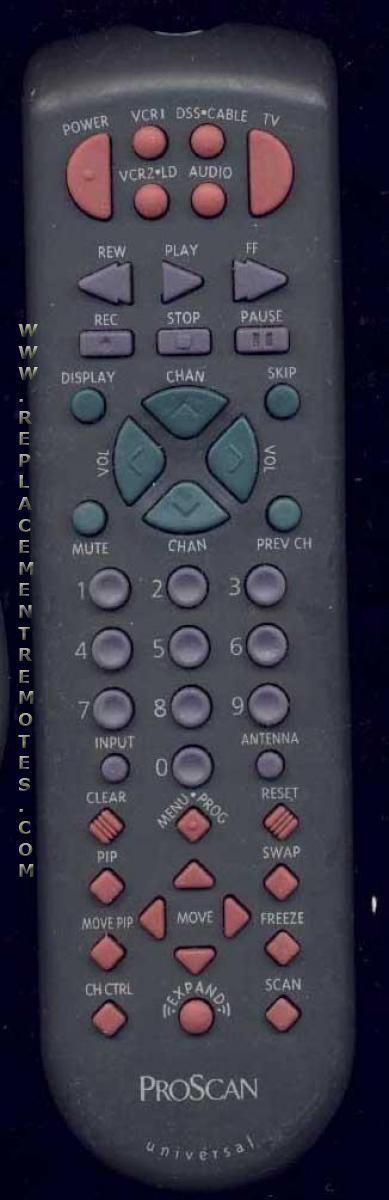 Proscan-RCA CRK83A1 TV Remote Control