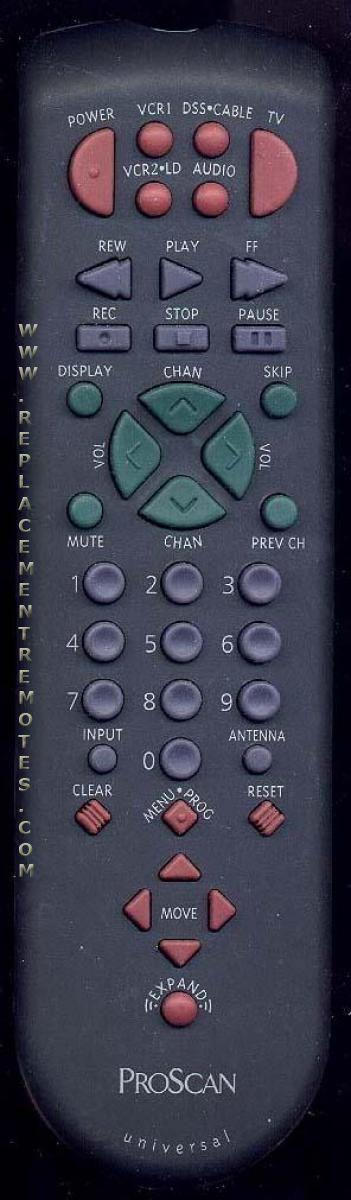 Proscan-RCA CRK83C1 TV Remote Control